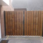 Dubbele poort hout