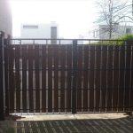 Dubbele poort staalplaat