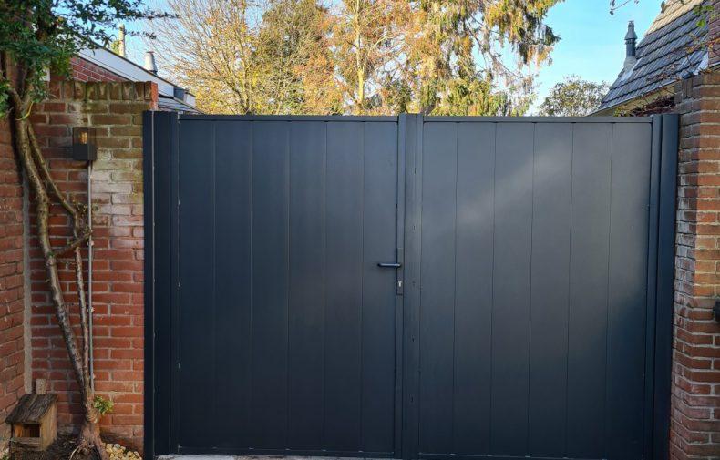 Dubbele aluminium poort